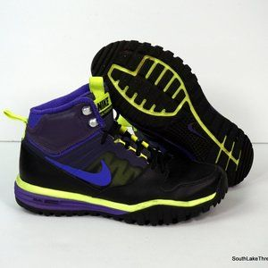 Nike Dual Fusion Hills Boot Shoes Black/Purple 8.5